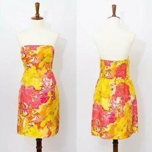 J.Crew 100% Silk Strapless Impressionist Dress 00P